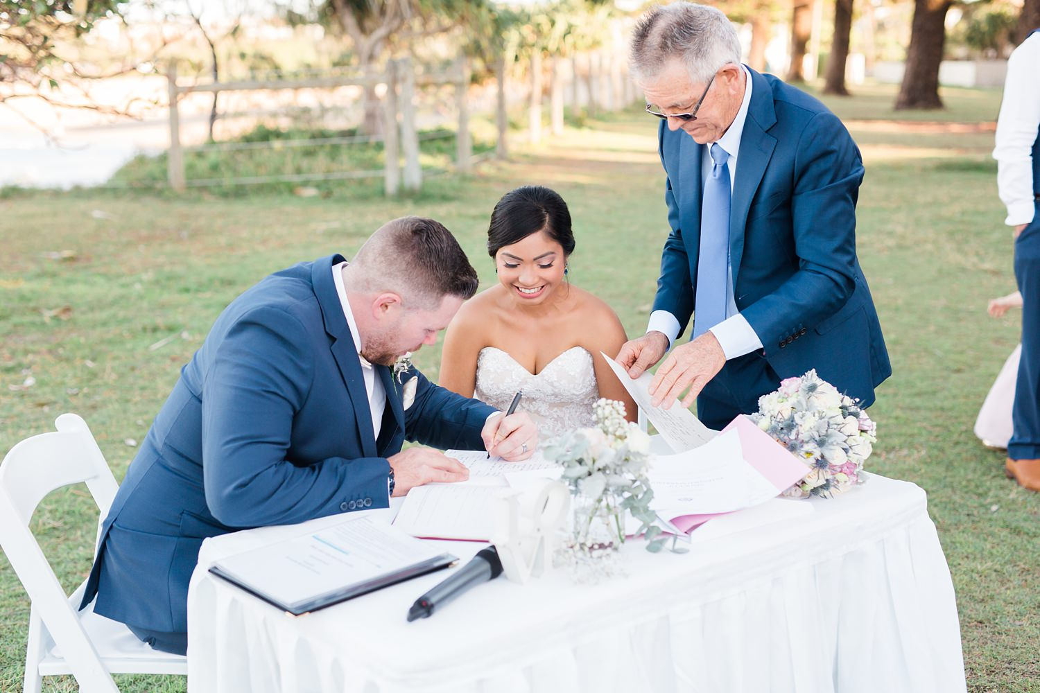 Dicky Beach Sunshine Coast Wedding by mario colli photography